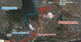 Под Ясиноватой силам АТО удалось уничтожить более сотни российских вояк