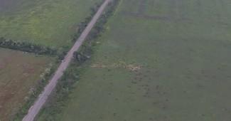 Как оккупанты пытались сбить украинский дрон, который снимал их позиции под Широкино (ВИДЕО)