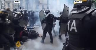 ЕВРО МОГУТ ОТМЕНИТЬ! Париж бунтует, массовые драки с полицией (ВИДЕО)