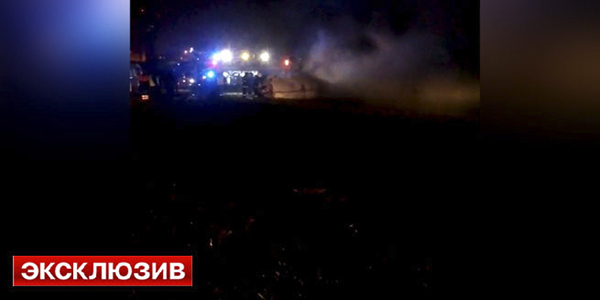Под Шереметьево, через две минуты после взлета разбился самолет с премьер министров РФ Медведевым на борту!