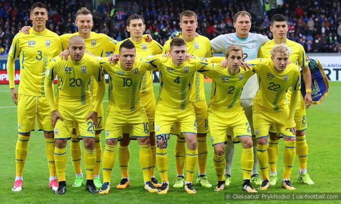 Сборная Украины сохранила за собой 35-тую строчку в рейтинге ФИФА