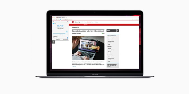 Бесплатный VPN теперь появился в браузере Opera