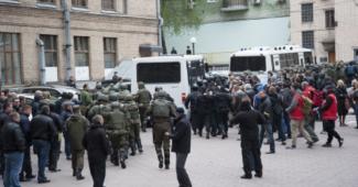 Полиция задержала более полусотни человек в результате столкновений в КГГА