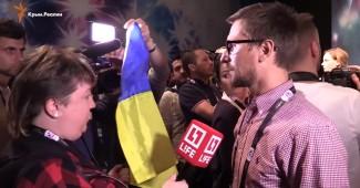 Пропагандистов из LifeNews под всеобщий смех выпроводили из пресс-конференции Джамалы (ВИДЕО)
