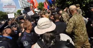 Ну что за день! В Киеве на 9 мая ещё и Витренко со своими дружками отгребли по полной (ВИДЕО)