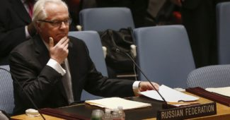 Russian Ambassador to the United Nations Vitaly Churkin takes his seat before a Security Council meeting on the crisis in Ukraine, at the U.N. headquarters in New York March 3, 2014.  REUTERS/Shannon Stapleton (UNITED STATES - Tags: POLITICS) - RTR3G01X